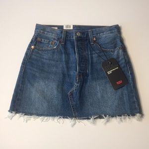 NWT Levi's Deconstructed Jean Skirt Size 26